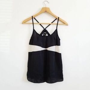 Asos Black Silky Camisole Cami Tank Top 0 XS